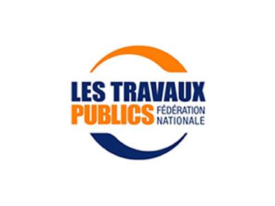 Les travaux publics - Logo bleu et orange