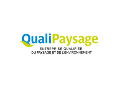 Quali Paysage - Logo bleu et vert