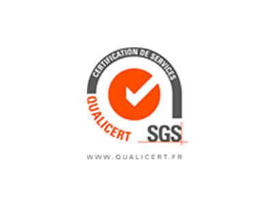 Qualicert SGS - Logo gris et orange