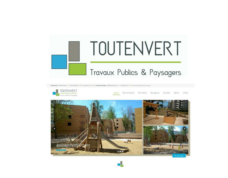 Logo toutenvert et aménagement urbain