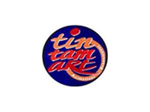 Tintamart Chatte - Logo bleu orange et rouge