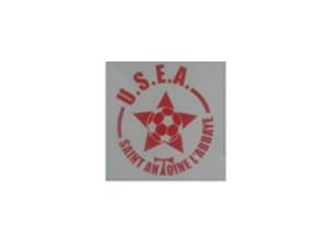 Union Sportive St Antoine l'Abbaye - Logo rouge et gris