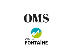 Office du Mouvement Sportif Fontaine - Logo noir bleu et vert