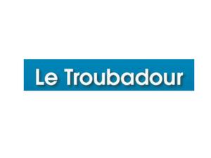 Le Troubadour - Logo bleu et blanc