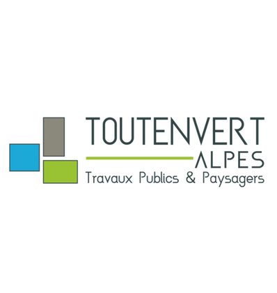 Toutenvert - Logo gris bleu et vert