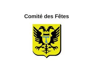 Comité des Fêtes – Saint-Antoine - Logo noir et jaune