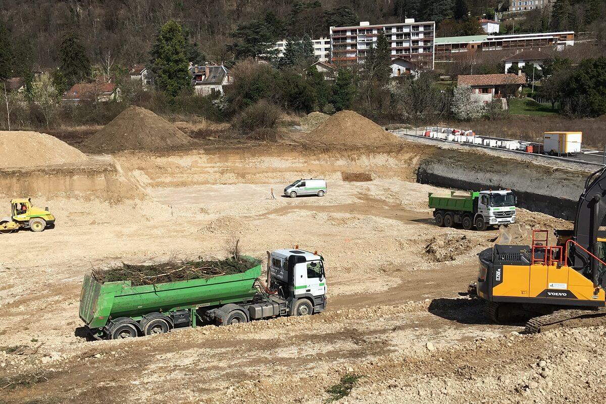 VOREPPE ZAC Hoirie Terrassement pour construction d'un EHPAD