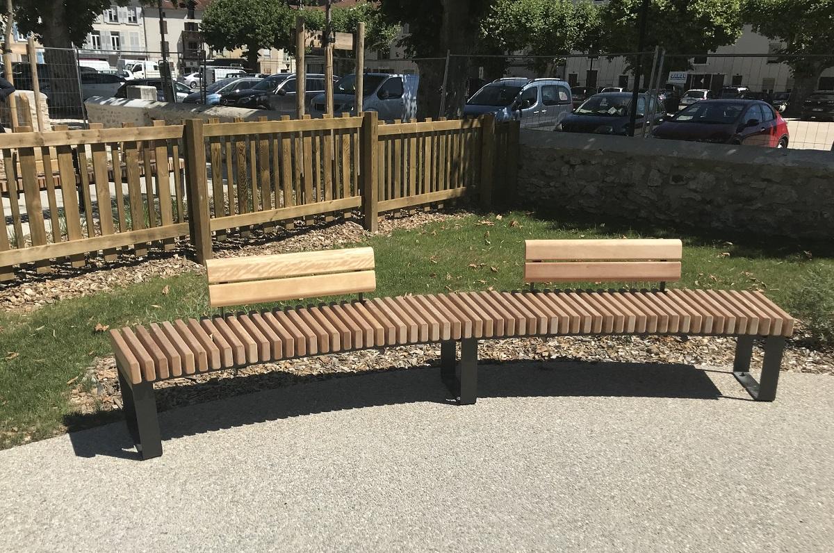 Restructuration parc de la Providence - Pose de mobiliers