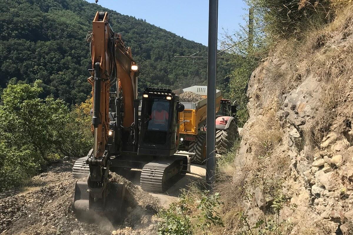 Aménagement du quai du terminus de Gravaison