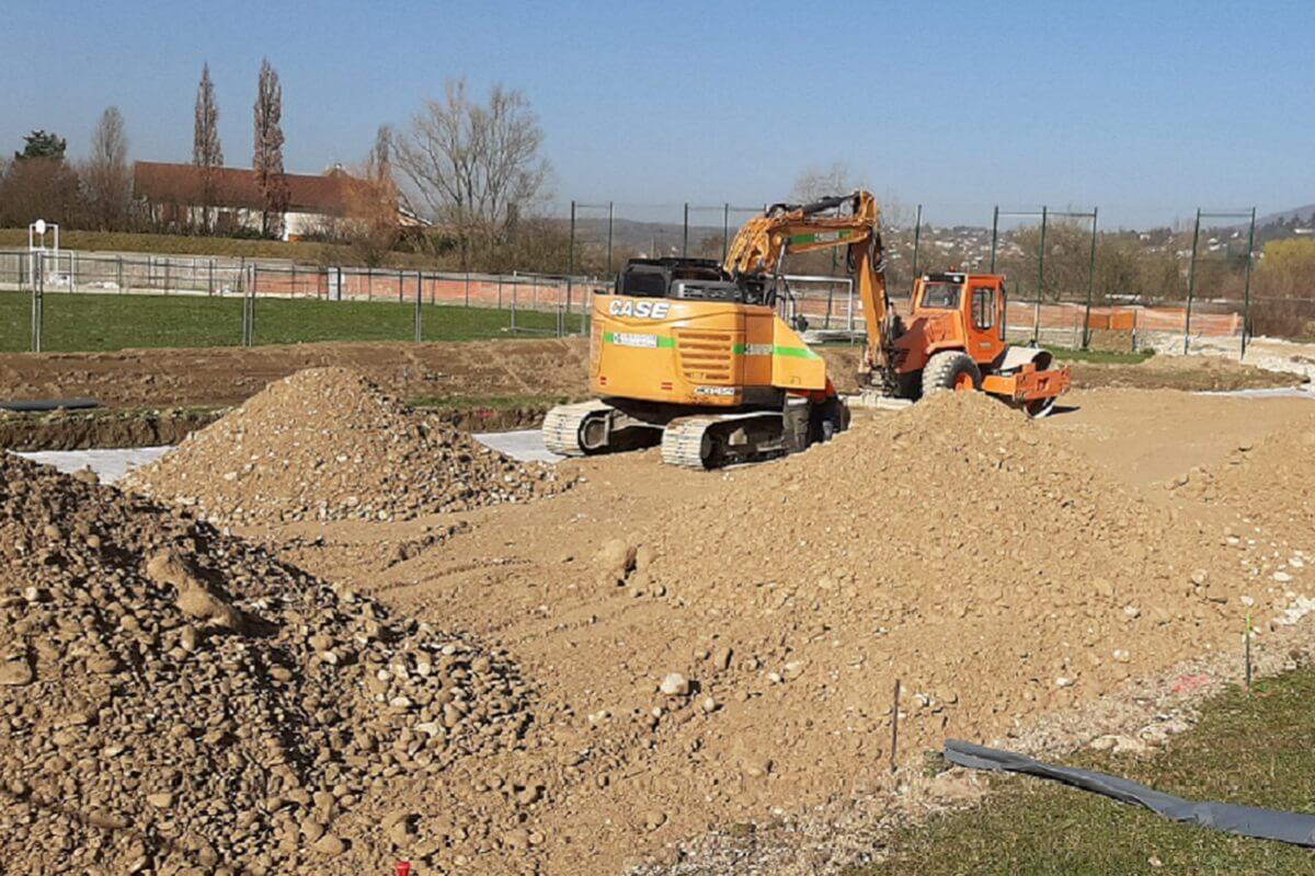 Terrassement pour création de 2 terrains de Padel
